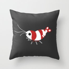 Crystal red shrimps Throw Pillow