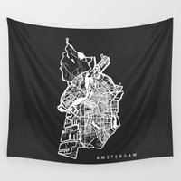 amsterdam Wall Tapestries featuring AMSTERDAM by Nicksman