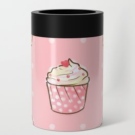 Pink cupcakes pattern Can Cooler