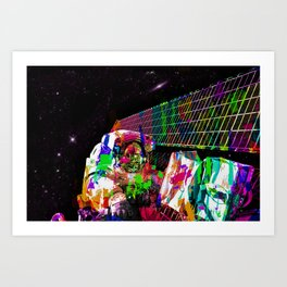 Psychedelic space walk Art Print