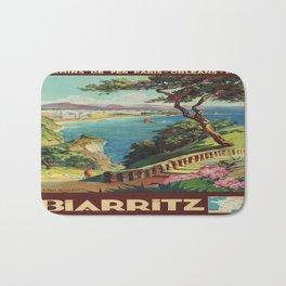 Vintage poster - Biarritz, France Bath Mat