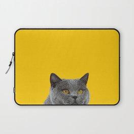 British Short-haired Cat Saffron Yellow Home Decor Pet Lovers Art Grey British Laptop Sleeve