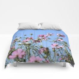 Pink Lavender Pastel Flowers Comforters