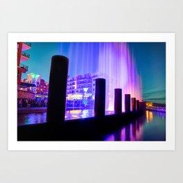 Fountain Show at Branson Landing - Lake Taneycomo Waterfront Art Print