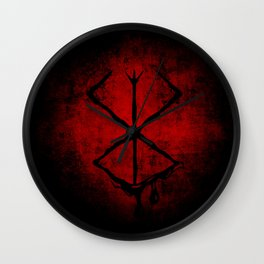 Black Marked Berserk Wall Clock