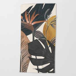 Abstract Tropical Art III Beach Towel