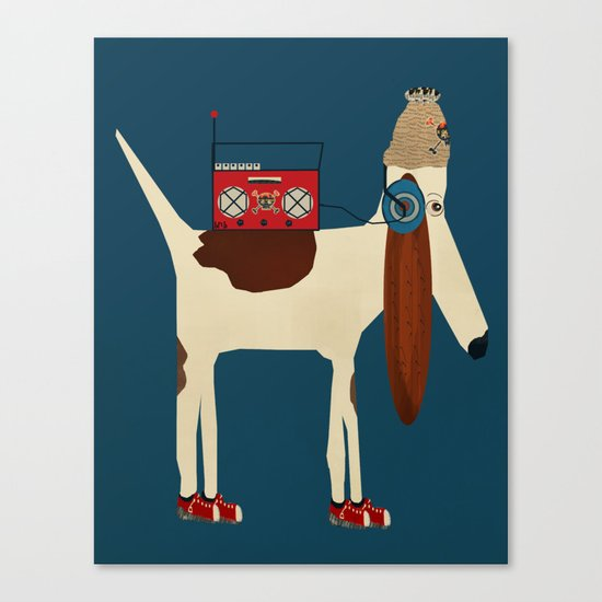 bootleg beagle  Canvas Print