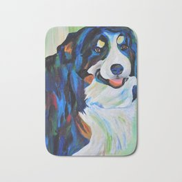 Colorful Border Collie Bath Mat