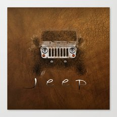 Jeep Abstract Canvas Print