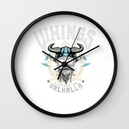Vikings Victory Or Valhalla Wall Clock