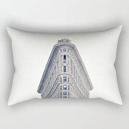 New York, The Flatiron on black and white Rectangular Pillow