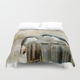 The Bully - Tree Swallows  Duvet Cover
