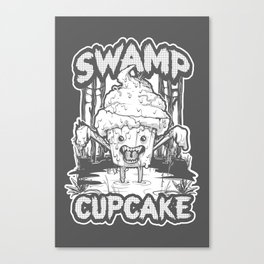 SWAMP CUPCAKE — Halloween vintage horror 80' Canvas Print
