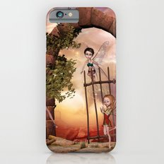 Cute playing fairys in the sunset Slim Case iPhone 6s