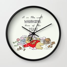 it is the most wonderful time of the year Wall Clock