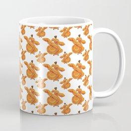 Orange Ballet Folklórico Dancers Pattern (Baile Folklórico) Coffee Mug