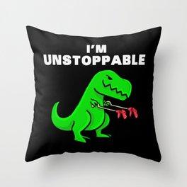 I am unstoppable | Dinosaur Tyrannosaurus Rex Throw Pillow