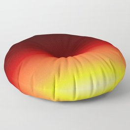 Digital Sunset Night Sky Floor Pillow