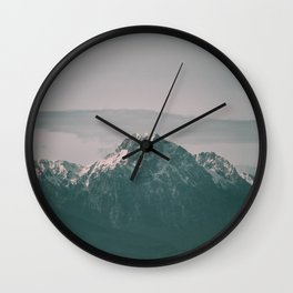 Landscape Italian Snow Mountain Photography Wall Clock