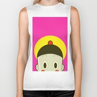 poker Biker Tanks featuring Poker Face by Cyborgking