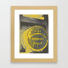 Jameson barrel art print Framed Art Print