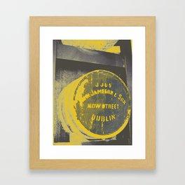 Jameson barrel art print Framed Art Print