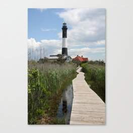 Fire Island Light With Reflection - Long Island Canvas Print