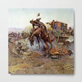 C.M. Russell Cook's Troubles Vintage Western Art Metal Print