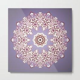 Flower Bud Mandala Metal Print