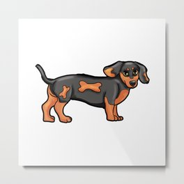 Dackel Dog Dog-Owner gitr Present puppy Metal Print