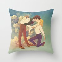 happiness Throw Pillows featuring Happiness by Marta Milczarek