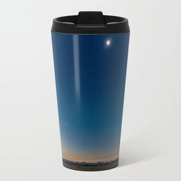 Solar Eclipse Totality Over Grand Tetons Travel Mug