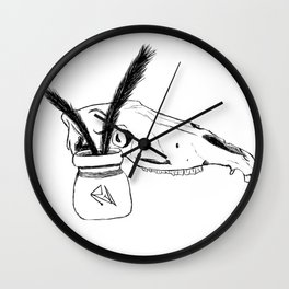 Watchful Skull Wall Clock