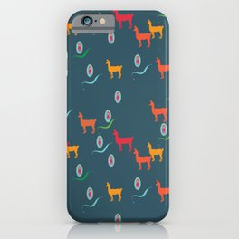 llama and poodle iPhone Case