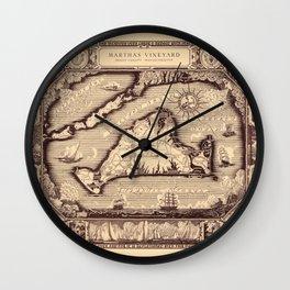 Map Of Marthas Vineyard Wall Clock