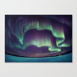 Northern Lights Dragon Canvas Print