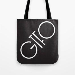 GTFO Minimal Typography Tote Bag