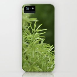 Soft Thin Leaves iPhone Case