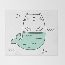Merkitty Mint Green Throw Blanket