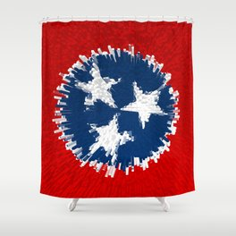 Extruded flag of Tennessee Shower Curtain