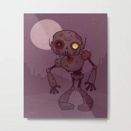 Rusty Zombie Robot Metal Print