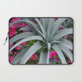 GRACEFUL ARCHING GREY-FUCHSIA FLORAL GARDEN PLANT Laptop Sleeve