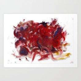 mili2 - abstract oil pastel minimalism Art Print