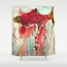 Sockeye Season Shower Curtain