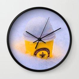 Cool Warming Coffee Wall Clock