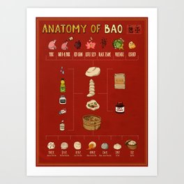 Anatomy of Bao Art Print
