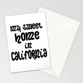Sweet home in California Stationery Cards