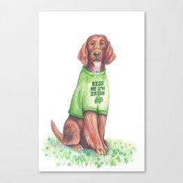 St. Patty's Day Irish Setter Canvas Print