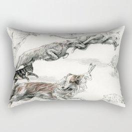 The Tracks Rectangular Pillow