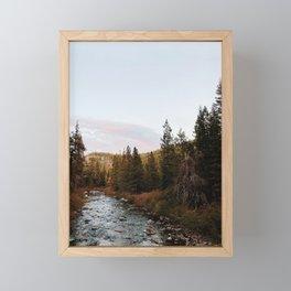 Truckee River Sunset Framed Mini Art Print